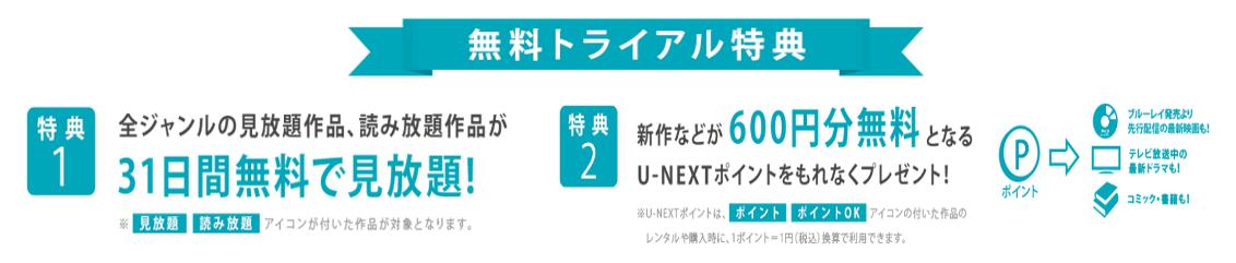 U-NEXT登録入会